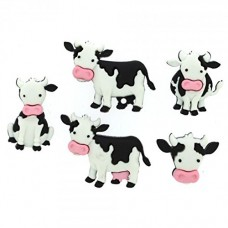 Dress It Up Shaped Novelty Button Packs - Mooove it