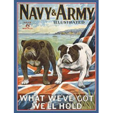 Navy & Army - Metal Wall Sign - retro vintage style sign  (150 x 200mm) Metal Sign