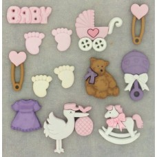 Dress It Up Shaped Novelty Button Packs - New Arrival Girl