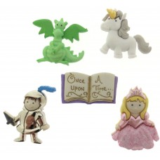 Dress It Up Shaped Novelty Button Packs - Once upon a time