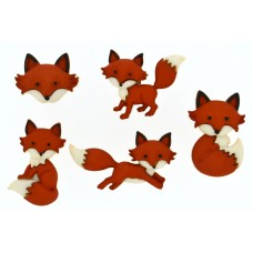 Dress It Up Shaped Novelty Button Packs - Out Foxed