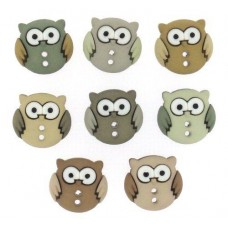 Dress It Up Shaped Novelty Button Packs - Sew Cute Owls