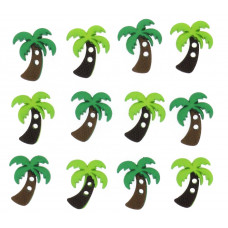 Dress It Up Shaped Novelty Button Packs - Palm trees
