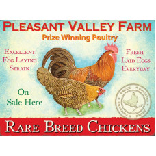 Pleasant Valley Farm - Metal Wall Sign - retro vintage style sign  (150 x 200mm) Metal Sign