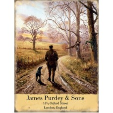 James Purdy & Sons Metal Wall Sign - retro vintage style sign  (150 x 200mm) Metal Sign