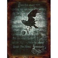 Alchemy Raven nevermore -  Small (150 x 200mm) Metal Sign
