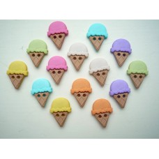 Dress It Up Shaped Novelty Button Packs - sew cute ice cream