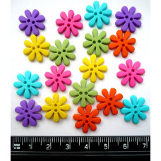 Dress It Up Shaped Novelty Button Packs - Sew cute retro flower