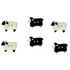 Dress It Up Shaped Novelty Button Packs - Sew thru sheep