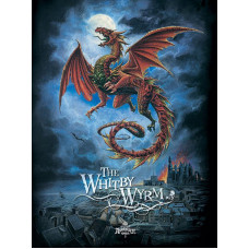 Gothic Whitby Wyrm - Metal Wall Sign - retro vintage style sign  (150 x 200mm) Metal Sign