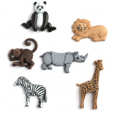 Dress It Up Shaped Novelty Button Packs - Wild thing