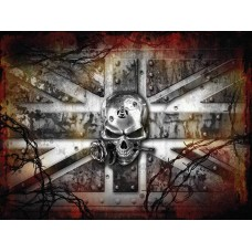 Alchemy wrought iron cross -  Small (150 x 200mm) Metal Sign