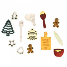 Dress It Up Shaped Novelty Button Packs - Christmas Cookies
